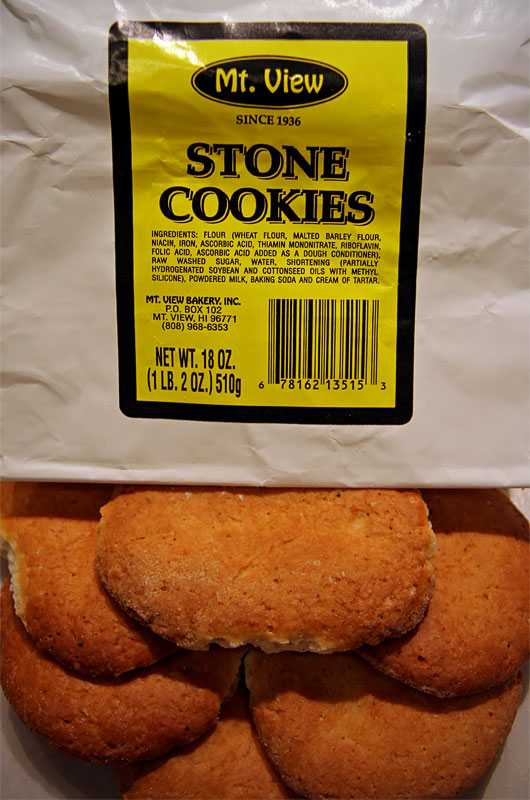 Stone Cookies from the Big Island of Hawaii