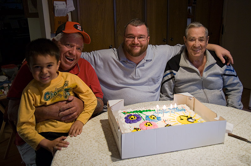 Daniel, Boyd, John Wise, and Woody Burns on my 44th Birthday