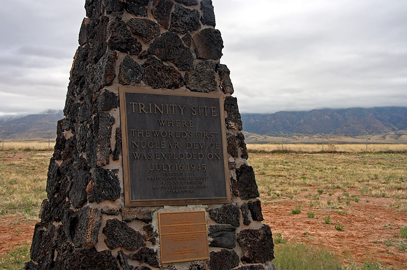 Trinity Site, home of the first nuclear explosion near Socorro, New Mexico