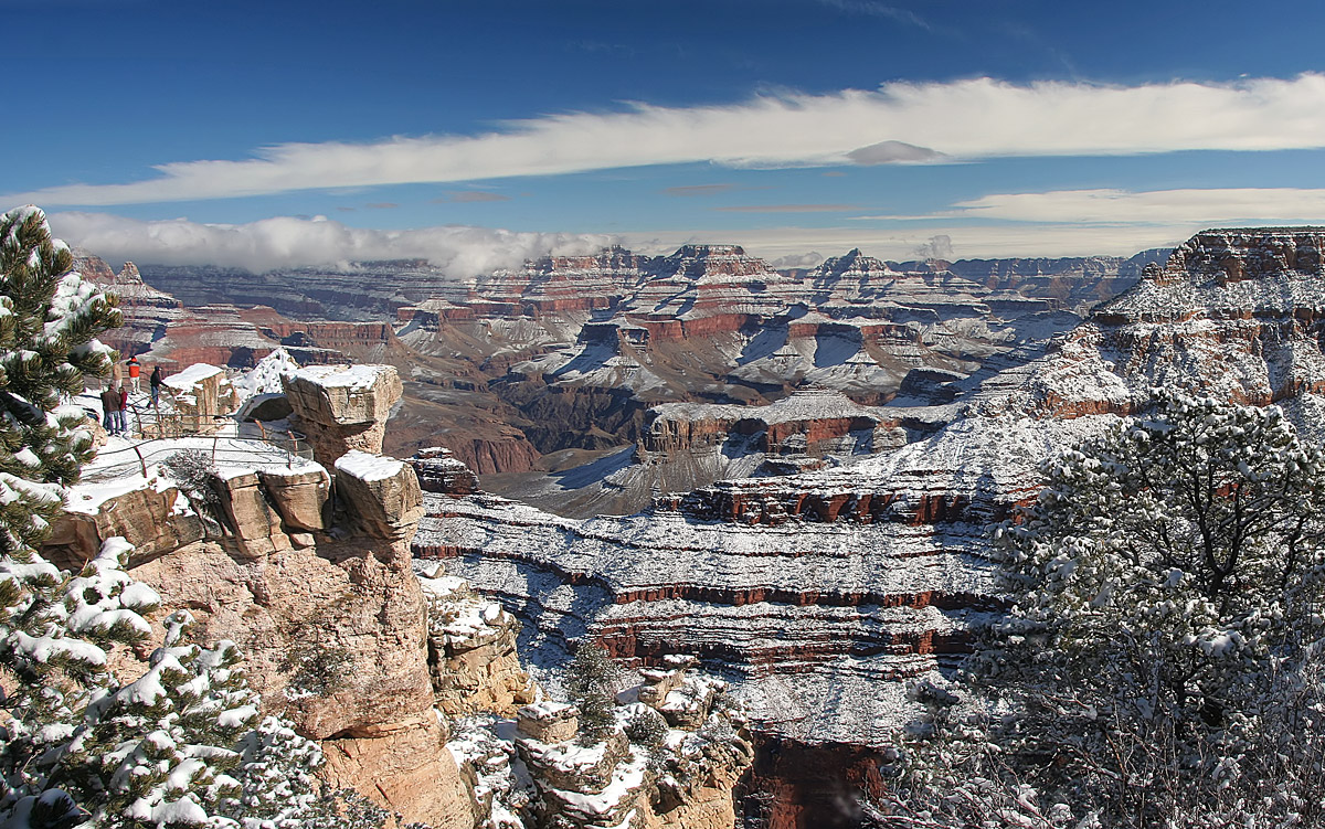 In january in Grand Canyon, the climate is relatively dry (with 41mm of precipitation over 6 days). The weather is better from the previous month since in december it receives an average of 43mm of rainfall over 6 days. The climate is quite more than very fresh here the month of january.