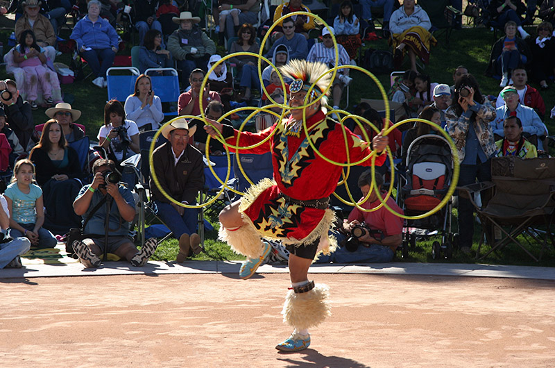 At the Heard Museum in Phoenix, Arizona during the annual Hoop Dance competition
