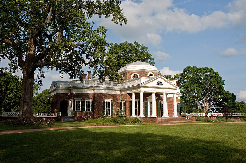 Monticello, the home of the third President of the United States, Mr. Thomas Jefferson
