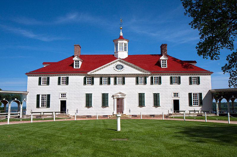 Mt Vernon - home to George and Martha Washington
