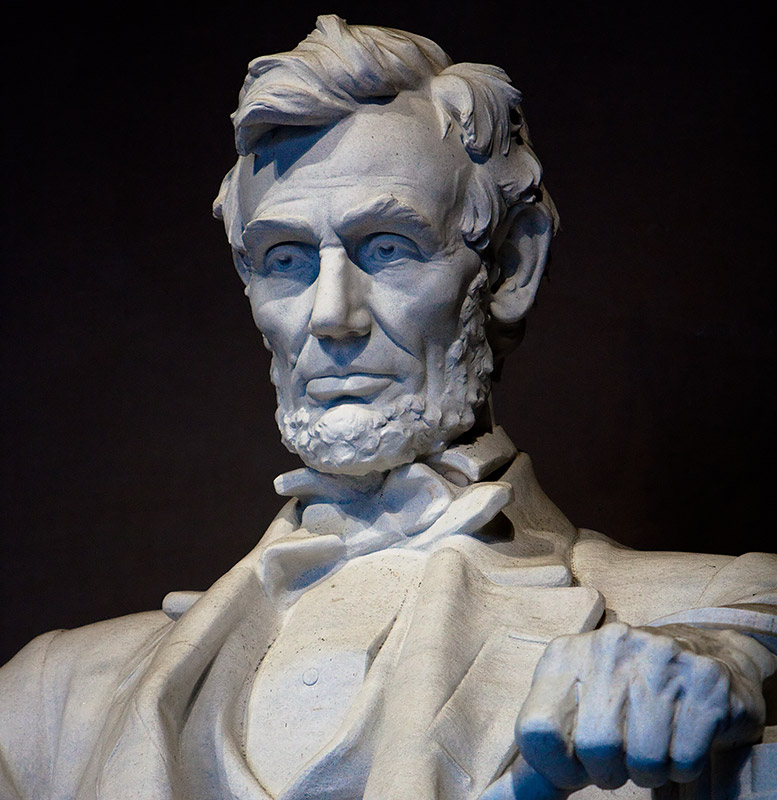 Statue of Abraham Lincoln in the Lincoln Memorial, Washington DC