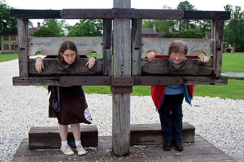 Caroline Wise and Jutta Engelhardt - prisoners in Colonial Williamsburg, Virginia