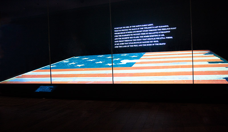 The U.S. flag that flew over Fort McHenry that inspired our national anthem