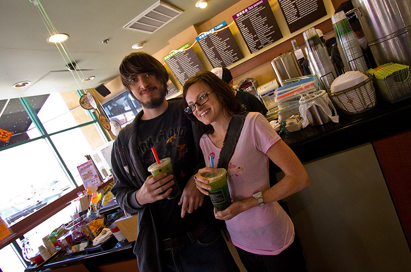 Joe and Rainy at Ten Ren Tea Shop in Rowland Heights, California