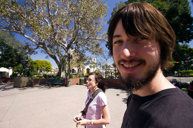 Joe and Rainy on Olvera Street in Los Angeles, California