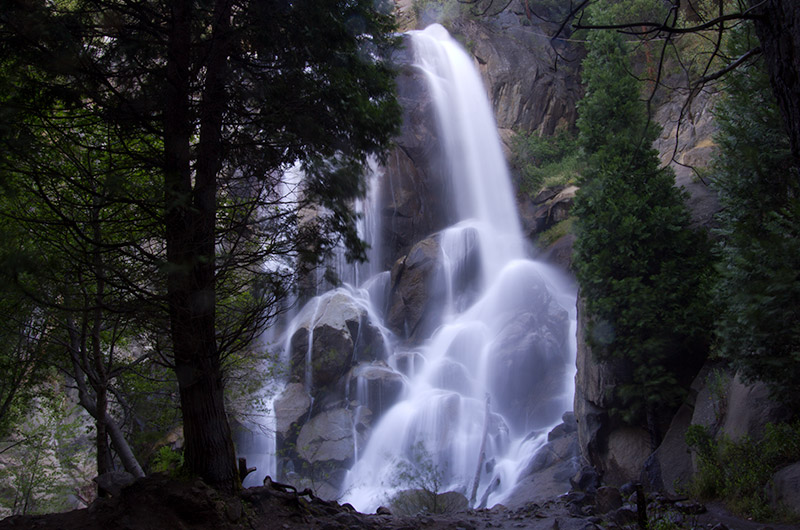 Grizzly falls in Kings Canyon National Park, California
