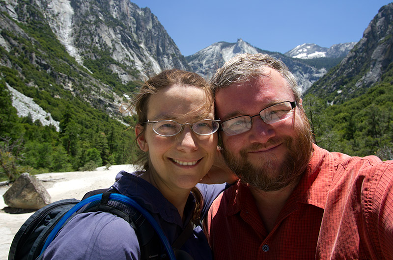 Caroline Wise and John Wise on the Mist Falls Trail in Kings Canyon National Park, California