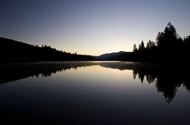 Hume Lake at sunrise in Kings Canyon National Park, California