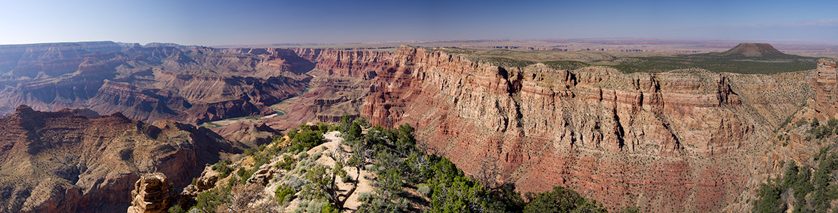 The view in to the Grand Canyon from Desert View near the Watch Tower