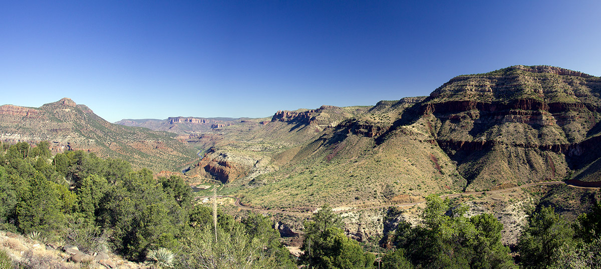 Salt River Canyon on Highway 60 in eastern Arizona