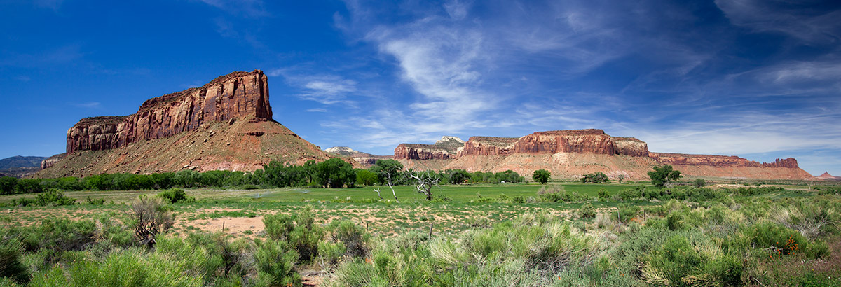 Panorama of landscape near Canyonlands National Park in Utah