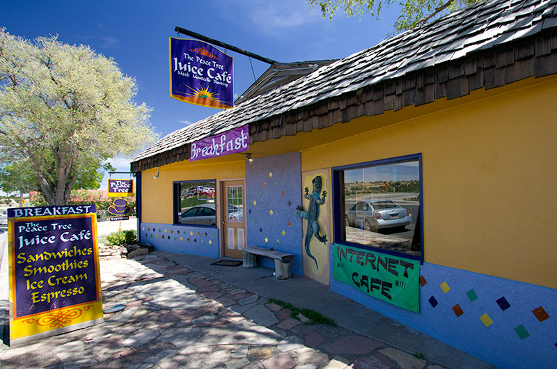The Peace Tree Juice Cafe in Monticello, Utah