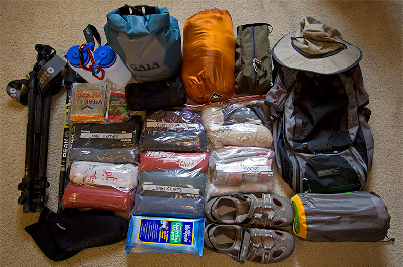 The gear that will accompany me down the Colorado River through the Grand Canyon for 18 days