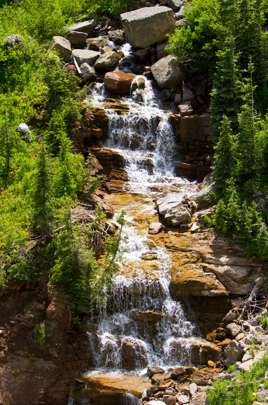 A roadside waterfall north of Durango, Colorado