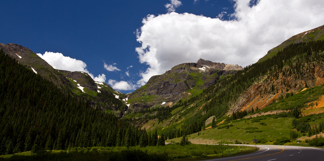 The road to Ouray, Colorado
