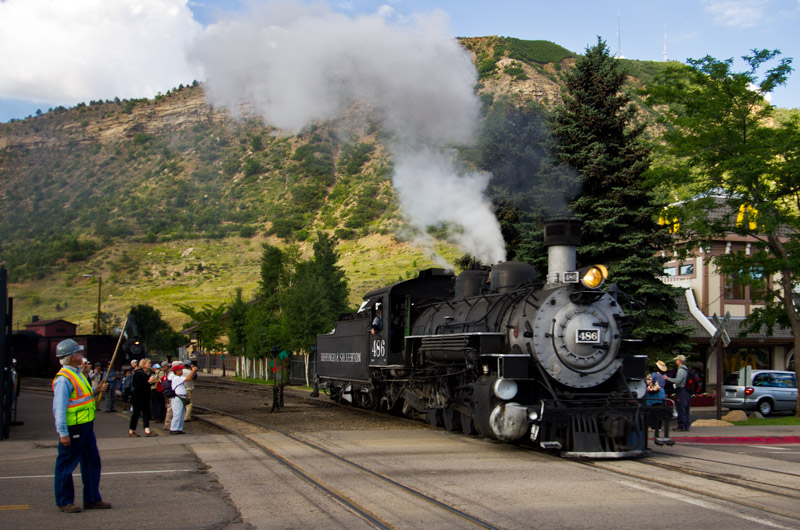 The Durango & Silverton Narrow Gauge Train getting ready for another day of work taking people on a historic ride to an old mining town