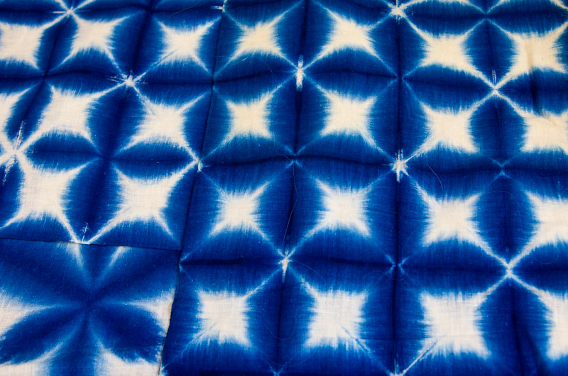 Shibori style dyed fabric presented by Yoshiko Iwamoto Wada at IWC in Durango, CO