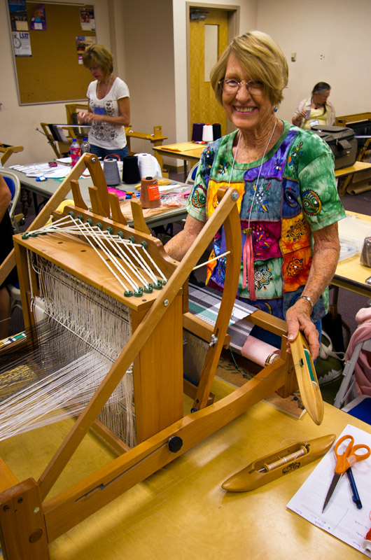 Visiting one of the weaving workshops at IWC in Durango, Colorado