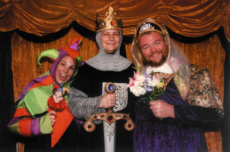 Jessica Aldridge, Caroline Wise, and John Wise at the Renaissance Festival outside of Phoenix, Arizona