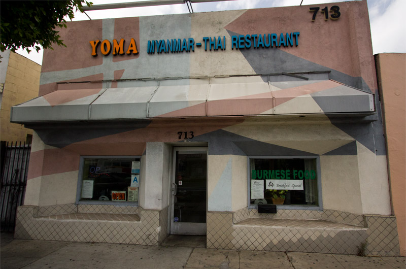 Yoma Myanmar-Thai Restaurant on 713 E. Garvey Ave Monterey Park, California