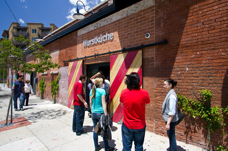 Wurstkuche in downtown Los Angeles, California - a hot place for an exotic sausage