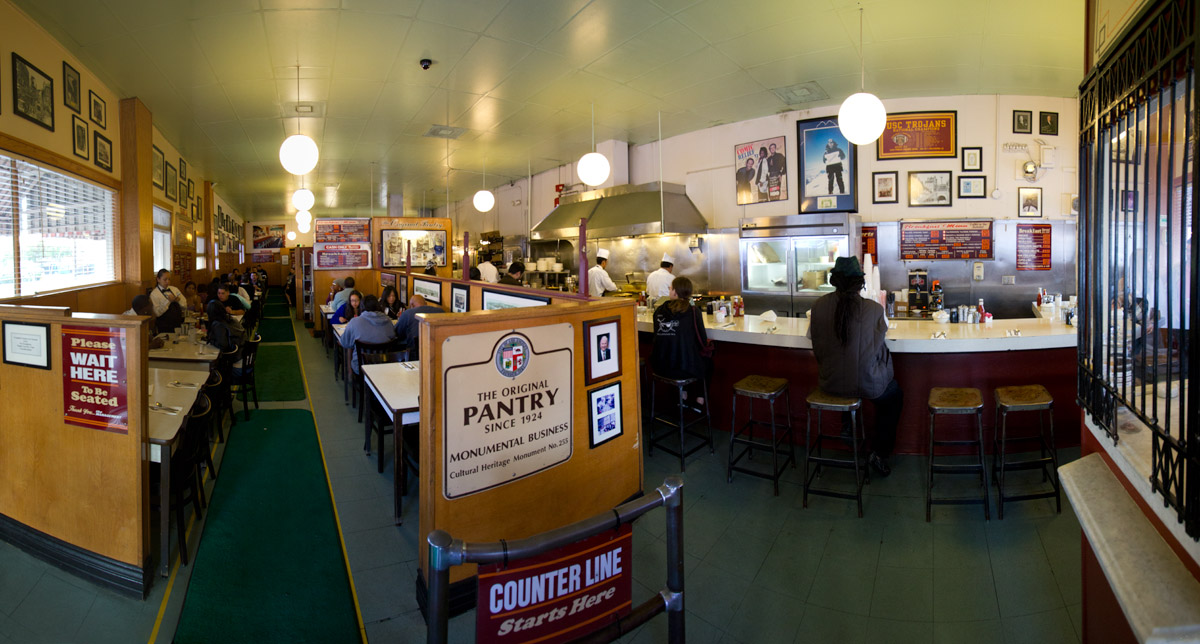 The Original Pantry Cafe has been open for business since 1924 - it is a landmark in downtown Los Angeles.
