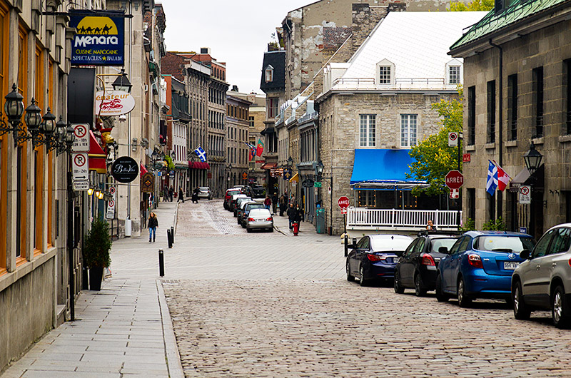Old Montreal in the province of Quebec, Canada