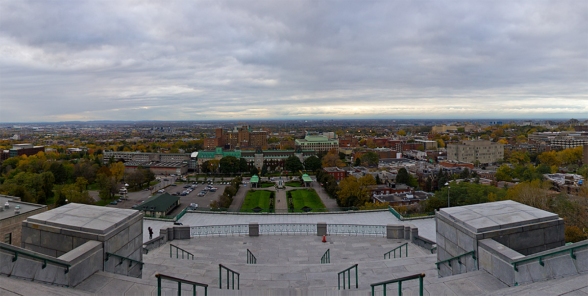 Panoramic view of Montreal from St. Joseph's Oratory in Montreal, Canada