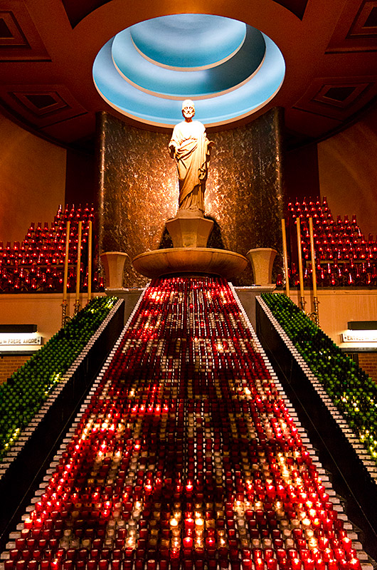 Candle Lite-Brite for God at St. Joseph's Oratory in Montreal, Canada