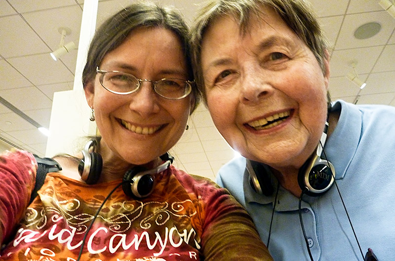 Caroline Wise and Jutta Engelhardt in a self-portrait at The Musical Instrument Museum in Phoenix, Arizona