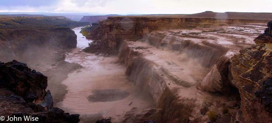 Grand Falls on the Little Colorado River in Northern Arizona