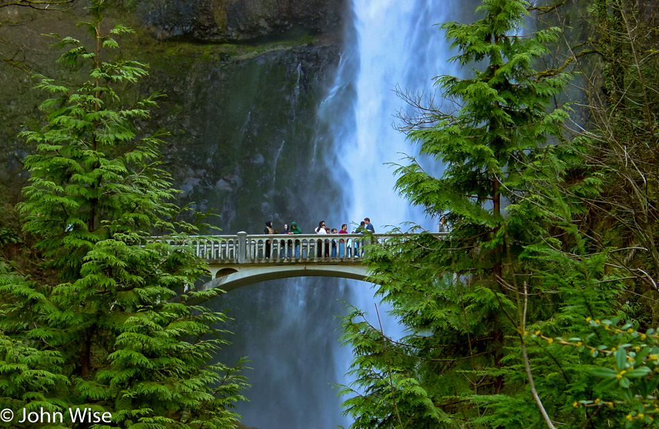 Multnomah Falls on the Columbia River in Oregon
