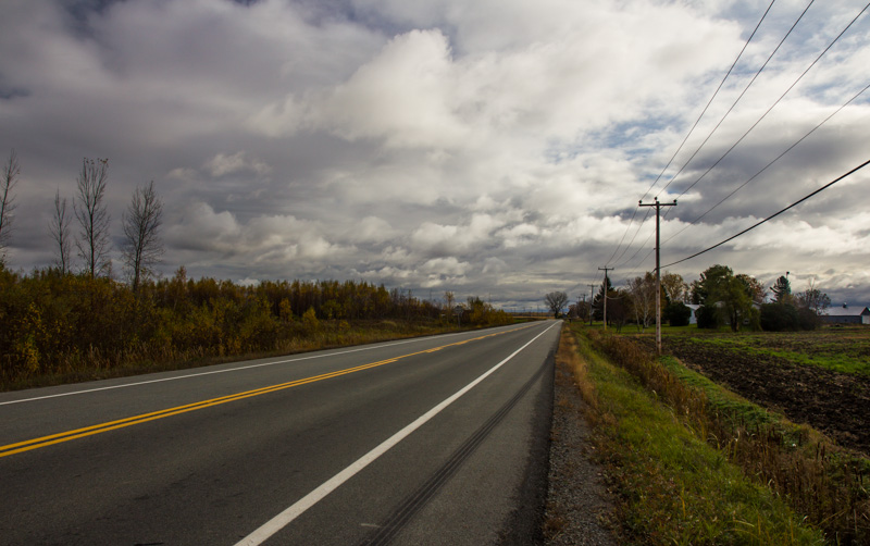 The road east to Quebec City