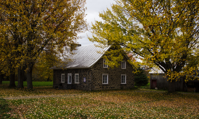 Country home in fall on the French Canadian countryside