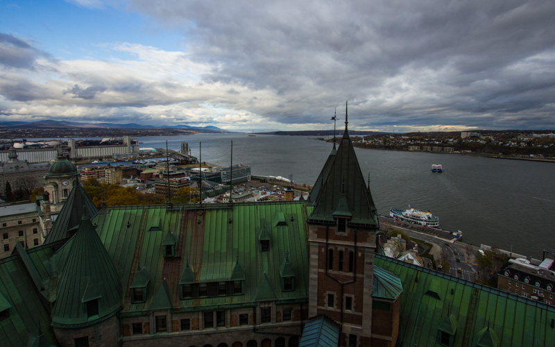 View from Chateau Frontenac in Quebec City, Canada