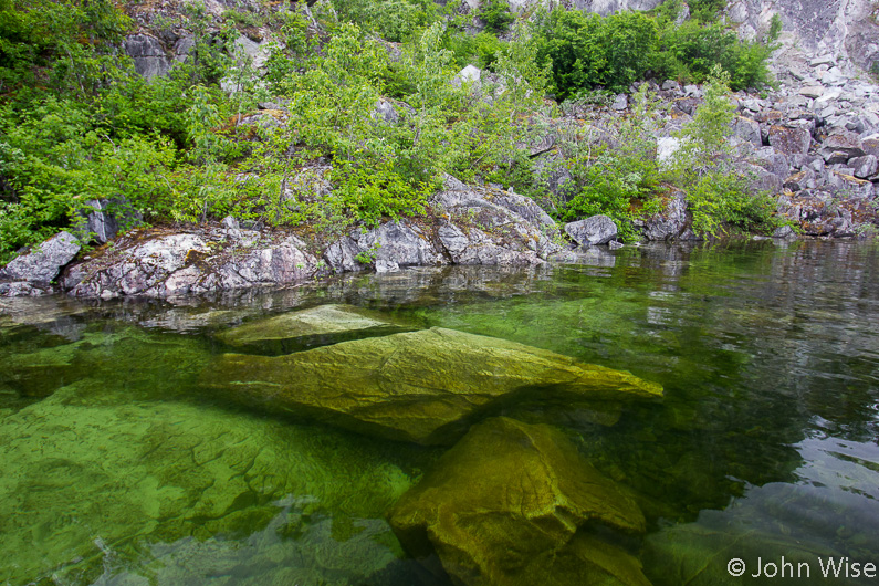 Crystal clear water on a tributary of the Alsek River in British Columbia, Canada