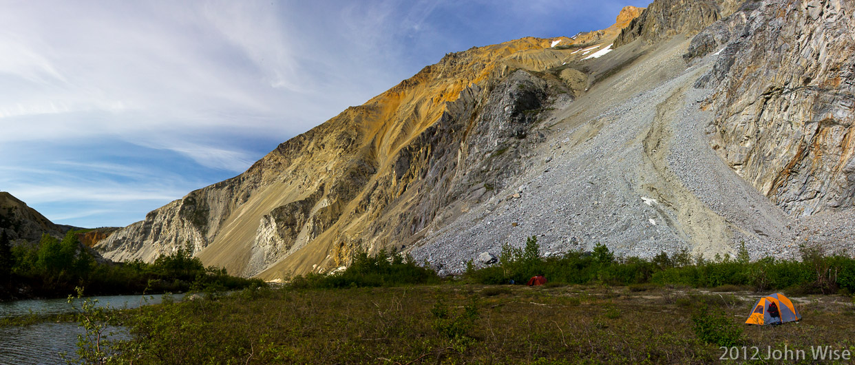 The view from Blue Lagoon campsite in Kluane National Park Yukon, Canada