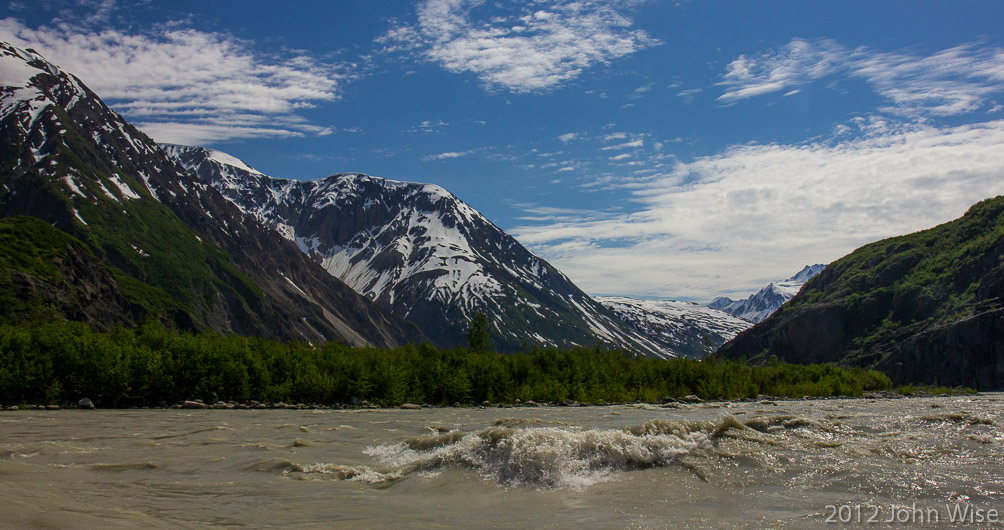 On the Alsek River in Tatsheshini-Alsek Provincial Park in British Columbia, Canada