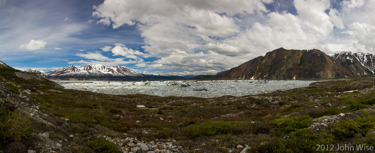 View of Lowell Lake from the western shore. Kluane National Park Yukon, Canada