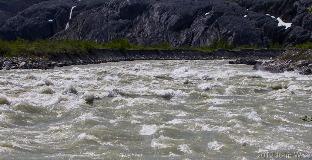 The rapids of Lava North in Kluane National Park Yukon, Canada