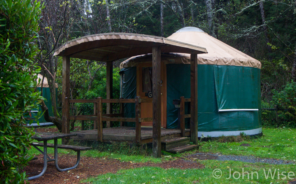 A yurt at Sunset Bay State Park in Oregon