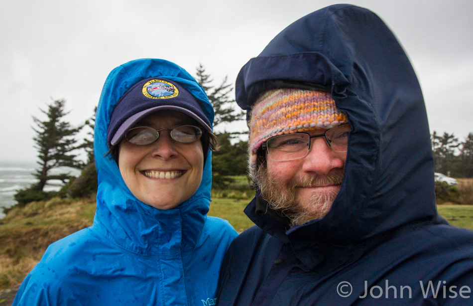 Caroline Wise and John Wise at Shore Acres State Park in Oregon