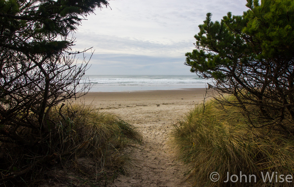 Walking out to Rockaway Beach in Oregon