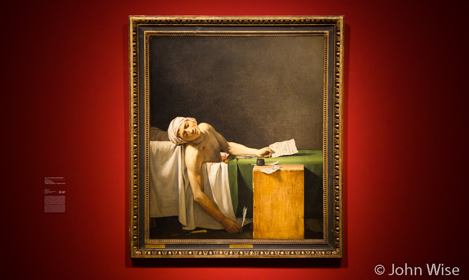 The Death of Marat (a copy) at Städel Art Museum in Frankfurt, Germany