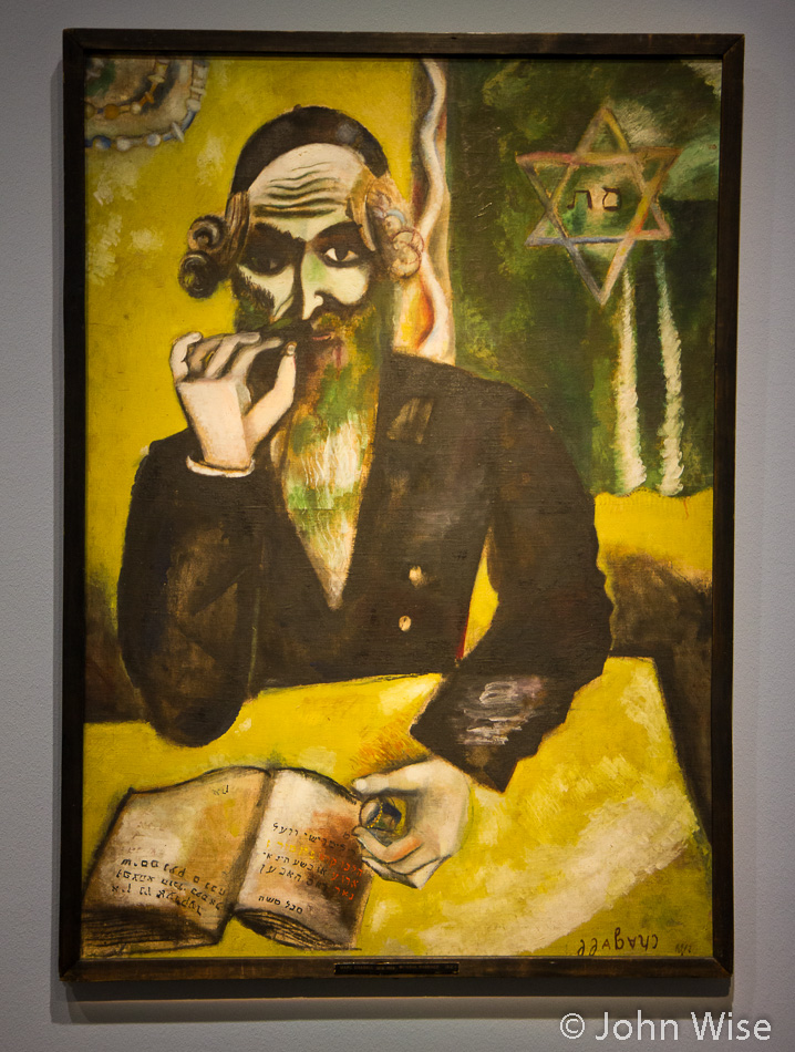 The Rabbi by Marc Chagall in Städel Art Museum Frankfurt, Germany