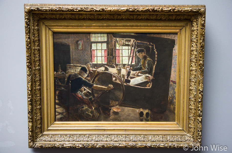 The Weaver by Max Liebermann at the Städel Art Museum in Frankfurt, Germany