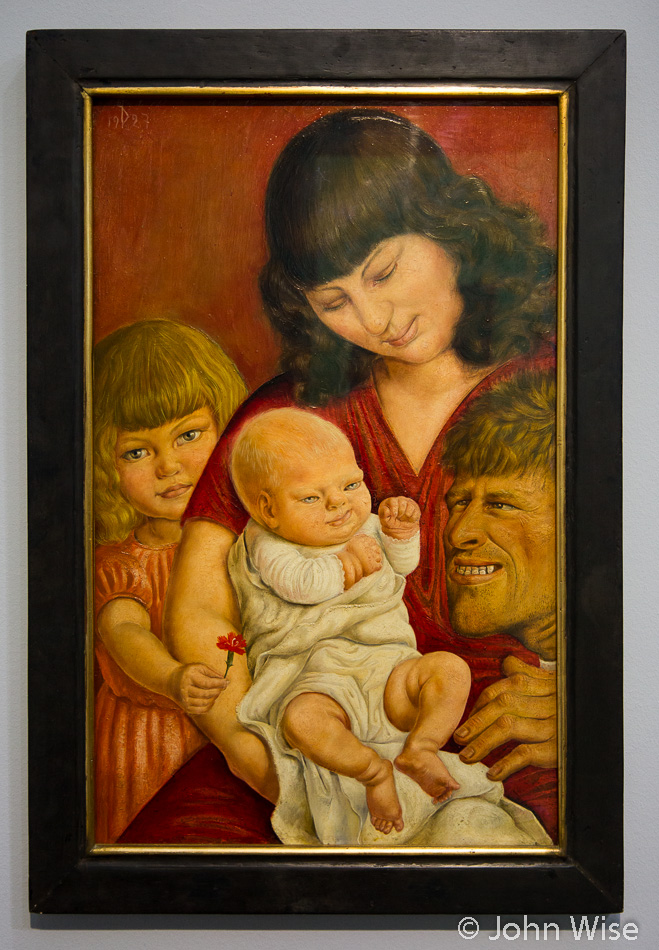 The Artist's Family by Otto Dix at the Städel Art Museum in Frankfurt, Germany